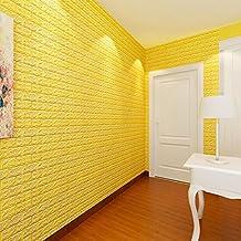 DIY Wall Stickers,NINGSUN Schiuma di PE Wallpaper 3DAdesivi murali fai da te Decorazione della parete Pietra di mattoni impressa,piastrelle di ceramica Adesivo da parete