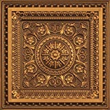 #6: Decoraids Decorative Embossed 2x2 Ceiling Tiles & Wall Panel Pack of 6 Pieces Area Cover 24 Sq Ft