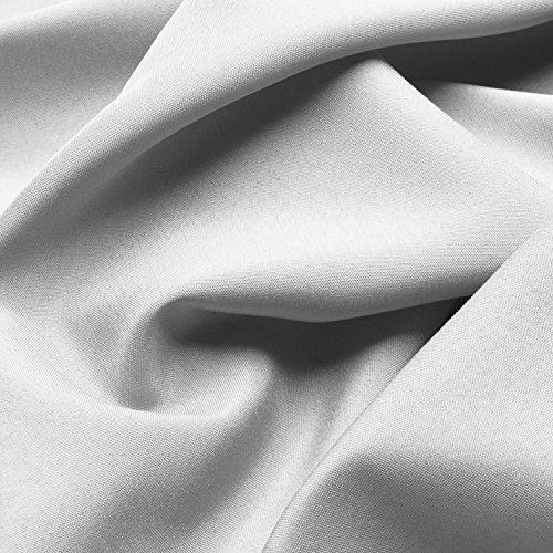 Beautissu Blickdichter Ösen-Vorhang Amelie – 140×245 cm Weiß Uni – Dekorative Gardine Ösenschal Fenster-Schal - 3