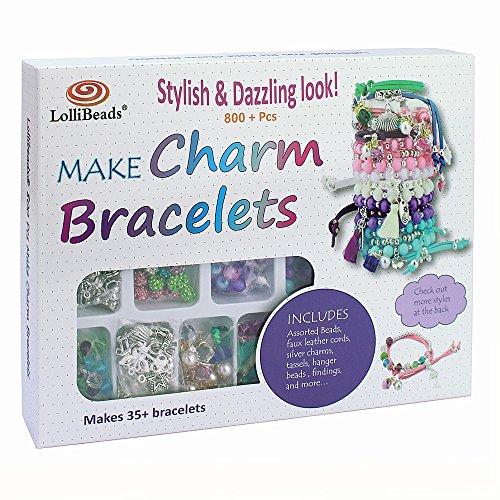 LolliBeads Schmuck-Bastelset, mit Aufbewahrungsbox Leather Charm Bracelet Kits_1