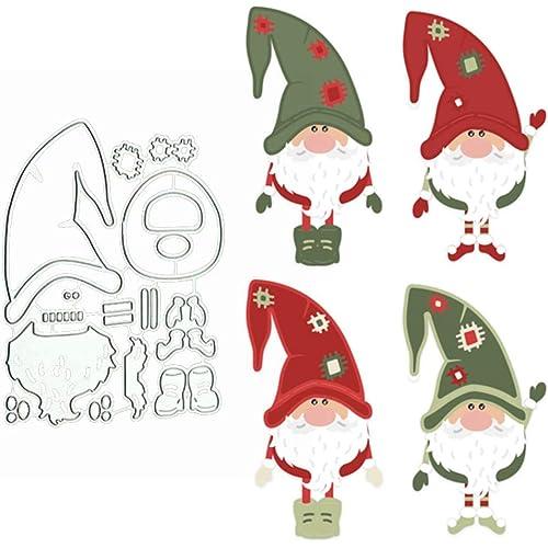 litty089 - Fustella per ritagli, motivo Babbo Natale, stencil per fai da te, album di ritagli, biglietti di carta