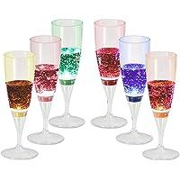 Signstek Verres à Champagne éclairés à LED Paquet de 6