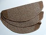 Läufer nach Maß Stufenmatten Waschbar rutschfest Braun Breite 67 cm Länge bis 3000 cm (15er Set Stufenmatten)