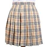 Cheerlife Mädchen Damen Faltenröcke Kariert Röcke Minirock kurz Skirt Schuluniform Cosplay Rock XL Dunkelgrün