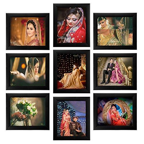 KrishnArts Photo Frame wall Collage set of 9 Pcs ( 9 Units of 8x10) Black