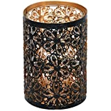 Imperial Gifts Glass Tealight Candle Holder (14 Cm X 9 Cm X 9 Cm, Black, IGRS 76 A)