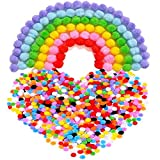 Pompoms for Craft Making and Hobby Supplies, 8 mm, 1000 Pieces, Assorted Colors