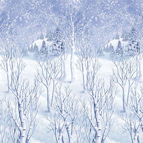 Riesige Bildrolle mit vereisten Bäumen, Weihnachtsdekoration, Rolle 40-Fuß lang, Winter-Wunderland, Schnee, Eis, Partydekoration, 1,2 m x 12,2 m