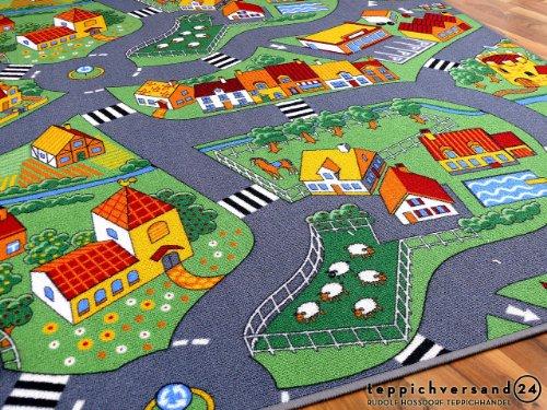 Kinder Spiel Teppich Little Village Grün in 24 Größen - 3