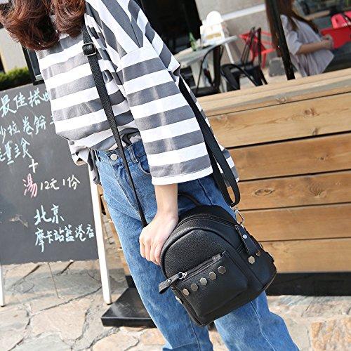 Longra Donna Mini Backpack Rivet Nero
