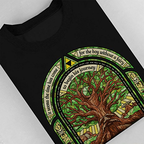 Deku Tree Legend Of Zelda Women's Sweatshirt Black