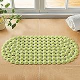 YIXIN Tappetini per il bagno Tappeto anti-scivoloso in PVC inodore con ventosa per il tappetino per il piede del massaggio ventosa ( Colore : Verde , dimensioni : A )