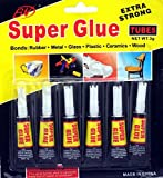 SystemsEleven 6 x Super Glue extra strong premium quality for plastic glass rubber paper by SystemsEleven