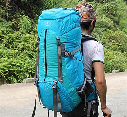 ALUK-Borsa arrampicata all'aperto tracolla zaino trekking impermeabile zaino Azzurro