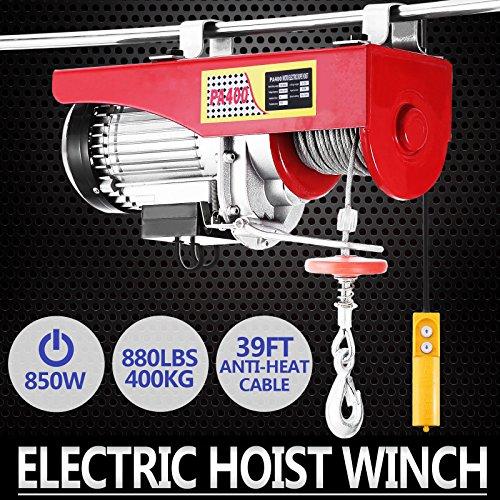 Autovictoria Polipasto Electrico Ascensor 400kg Overhead Polipasto Electrico 220v Cable Eléctrico Polipasto Garage Auto Shop(400kg)