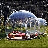 Wly&Home Extérieur Tunnel Backyard Tente Transparente Air Dôme, Simple Gonflable Bulle Tente Maison Camping avec Soufflantes Et Équipement De Réparation,C