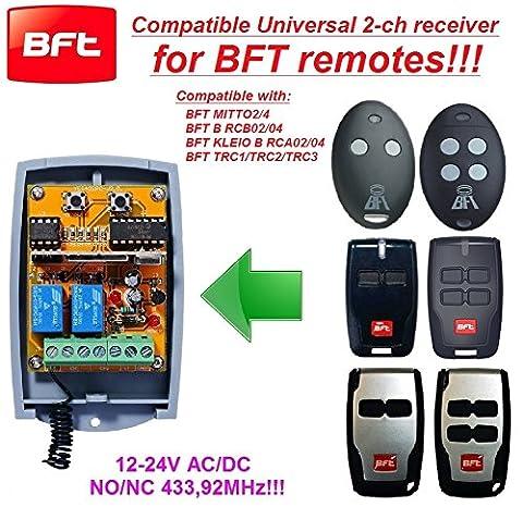 Telecommande Bft 02 - BFT compatible Récepteur portail. Universal 2-canaux Récepteur