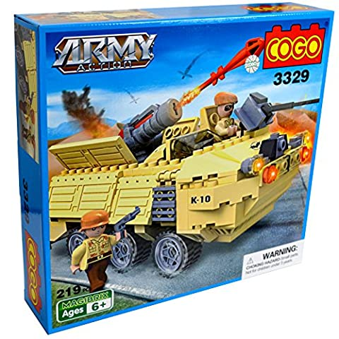 Cogo – Toy Ground Krieg tank Artillerie Cannon Tactical Gun Armee Solider Rakete-Set Building Konstruktion Brick Set