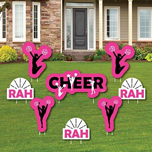 Big Dot of Happiness We 'VE Got Spirit-Cheerleading-Yard Zeichen & Outdoor Rasen Dekorationen-Geburtstag Party Oder Cheerleader Party Yard Schilder-Set von 8