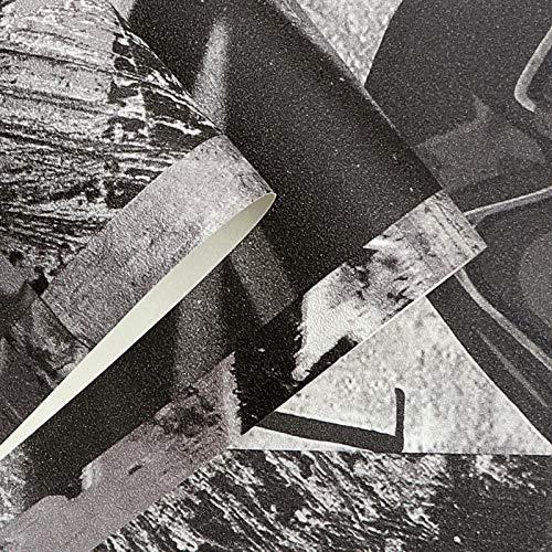 DUOCK Charakter Retro Industrie Wind Graffiti Tapete Ziegel Straße Grillgeschäft Hot Pot Bar Hintergrundbild Fotowand Wandbild, 473003,5,3 Quadratmeter