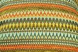 McAlister Textiles Aztec Kollektion | Stoff im geometrischen Curitiba-Muster in Orange & Blaugrün | per halber Meter | Deko Textil Material für Vorhänge, Bezüge, Decken etc.
