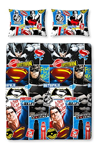 "Character World - Set copripiumino matrimoniale di """"Batman V Superman Clash"""