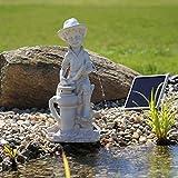 'Gargouille 'Bübchen Jeu d'eau Fontaine solaire pour bassin ou bassin