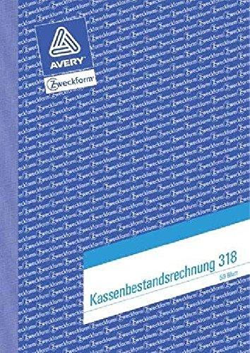 Kassenbuch A5 50BL ZWECKFORM 318Bestandsrechnung