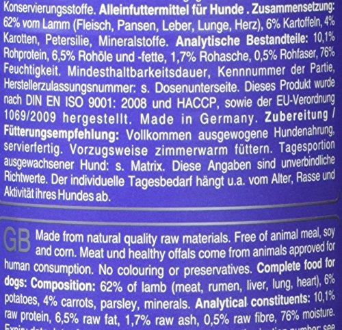Dr. Reuter's Hundefutter Lamm mit Kartoffeln und Karotten, 6er Pack (6 x 400 g) - 3