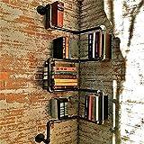 GUJJ Sepia industrial wind Bücherregale wand Eisenrohre Ecke Wand stehen kreative Wände dekoriert sind Wand Rack Mount,