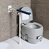 LWFB Handläufe für Badezimmer / Zusammenklappbar / aus Edelstahl Stehhilfe für Stege / WC Shower Grab Bar / für Senioren Rutschfeste T-förmige Armauflage (2 Farben erhältlich) Badezimmerarmlehne