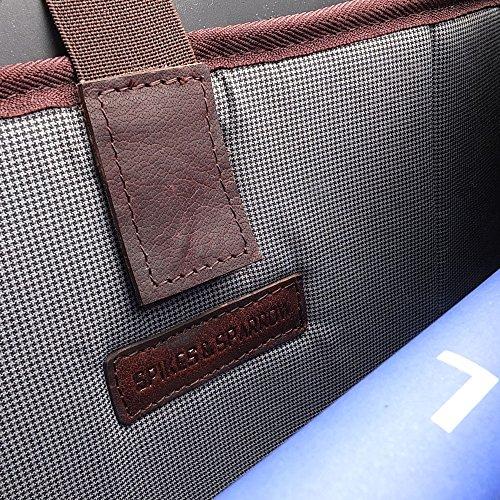 Spikes & Sparrow Bronco Aktentasche Leder 40 cm Laptopfach black