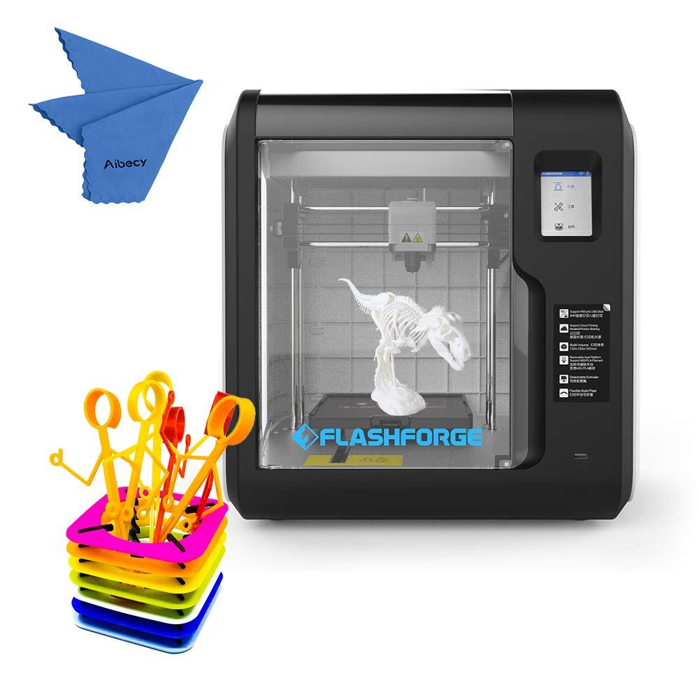 FlashForge Adventurer 3 Imprimante 3D de bureau entièrement équipée avec support à écran tactile (Soutenir le Français) 150 * 150 * 150mm Taille d'impression