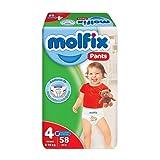 حفاضات كلوت للاطفال ماكسي من مولفيكس، 58 قطعة - مقاس 4