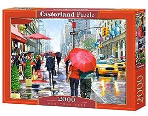 Castorland New York Cafe 2000 pcs Puzzle - Rompecabezas (Puzzle Rompecabezas, Ciudad, Niños, Niño/niña, 9 año(s), Interior)