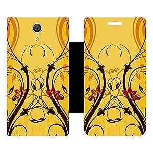 Skintice Designer Flip Cover with Vinyl wrap-around for Lenovo Zuk Z1, Design - Flower
