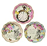 Talking Tables Truly Alice in Wonderland; Pappteller für Geburtstage, Hochzeiten, Teekränzchen und Partys, Verrückte