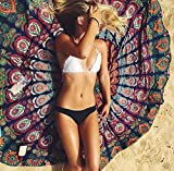 Rundes Strandtuch in Mandala & Hippie Muster in unterschiedlichen Farben mit 150cm Durchmesser