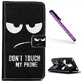 EMAXELERS LG G4 Stylus Hülle Nettes Lächeln Handtuch PU Leder Handy SchutzHülle für LG G Stylo,mit Standfunktion für LG G4 Stylus LS770,Angry Face