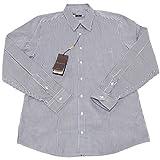 Gucci 4730O Camicia Manica Lunga Slim Bianco Verde Uomo Shirt Men [44 (17 1/2)]