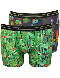 Scotch & Soda 2-Pack Floral Print Men's Boxer Briefs Gift Set, Navy/Green