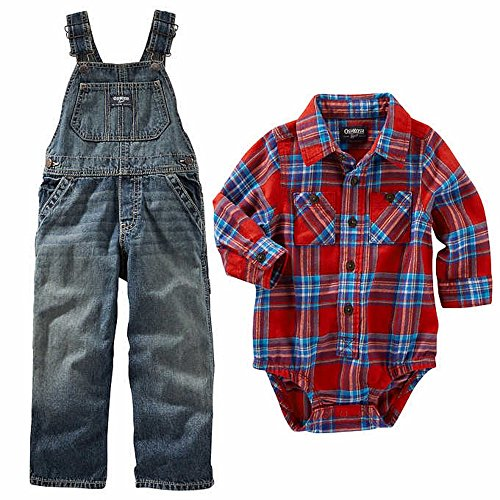 oshkosh-bgosh-boys-2-piece-overall-set-red-plaid-12-m
