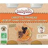 Babybio carotte, pruneau et boeuf 8 mois 2 x 200g - ( Prix Unitaire ) - Envoi Rapide Et Soignée