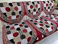 5 seater Sofa cover ( 3 seater back and seat covers + 2 single seat seating and back covers) Don't dry under direct sunlight.