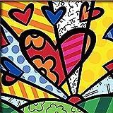 Geboor Dipingi per numero Kit per bambini e adulti Pittura a olio fai da te Fatta a mano su tela Camera da letto Soggiorno Decorazione Regali Pittura acrilica Cuore colorato