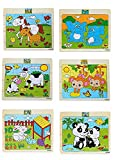 #6: Akrobo wooden Jigsaw puzzle for kids, Animal Theme ( 20 Piece per puzzle, 6 Puzzle )