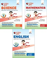 Olympiad Champs Science, Mathematics, English Class 2 with Past Questions (Set of 3 Books)