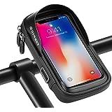 shenkey Borsa da Manubrio per Bici, Supporto per Telefono da Bicicletta con Touch Screen Impermeabile, Superiore Borsa per Po