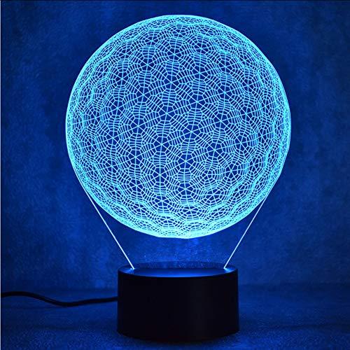 Mbambm 3D Led Visuelle 7 Bunte Neuheit Golf Ball Lampe Leuchte Usb Kreative Tischlampe Nacht Dekor Baby Schlaf Nachtlicht