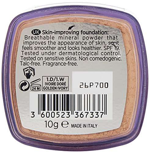 L'Oreal Paris True Match Minerals Foundation, 1D/1W Golden Ivory